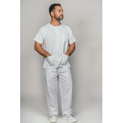 Pijama básico blanco con...