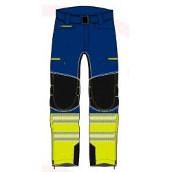Pantalón bicolor Azul y...