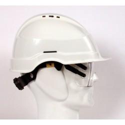 Casco con gafas integradas...