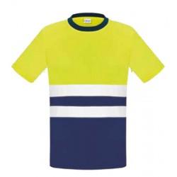 Camiseta bicolor alta...